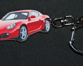 photo of a red PORSCHE key chain