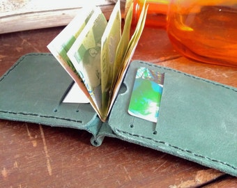 Leather Money Clip Wallet  *  Slim Card Holder * Money Clip Wallet * Men Women Leather Slim Wallet*Leather Product*Gift For Him*Gift For Her