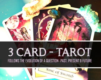 3 Card Tarot Readings, Past Present Future Reading, Tarot Reading, Psychic Help, Spiritual Guidance, Fortune Telling, Psychic Reading