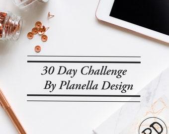 30-Day Challenge Insert, Personal Size Planner Insert, pdf, digital download, Goals, To-do, Challenge, instant download