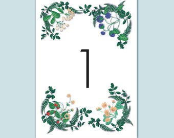 Table number (set of 10)