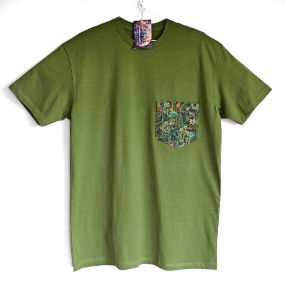 L XL WILD FLOWERS. 100% cotton T shirt . Unique t shirts. Classic tees. T shirt for man.