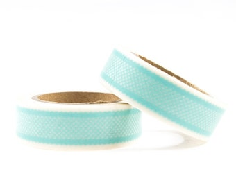 Blue washi tape with little dots