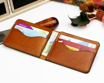 Bifold Leather Wallet, Men's Wallet, Minimalist Leather Wallet, Slim Leather Wallet