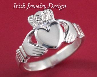 Claddagh ring, Mens silver claddagh ring