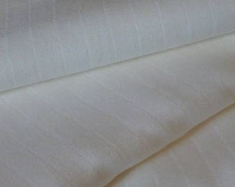 XXL Swaddle baby plain white, broken - in cotton muslin