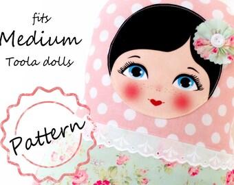 Printable Pattern PDF File, size Medium, Toola Babushka Matryoshka Doll