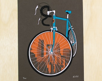 "18 x 24"" City Bike - Minneapolis Cycling Poster"