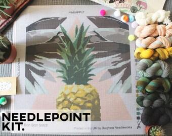 Creative Needlepoint Kit - Pineapple - Bon Bon Stitch