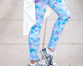 Mermaid Scale Leggings - adult and kids sizes