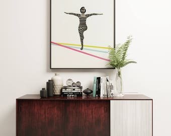 Dance Print, Female Portrait Art - The Bold and the Bright