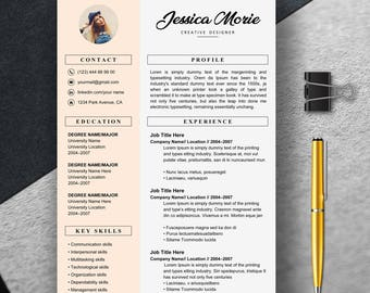 Resume Template for word, Professional Resume Template Instant Download, Creative Resume Template For Word, Resume with cover letter