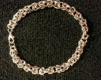 Byzantine Chain Maille bracelet 6 mm custom sizes