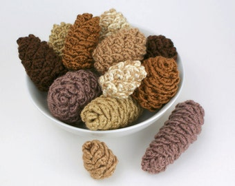 PDF Pine Cone Collection: six realistic CROCHET PATTERNS
