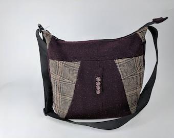 Outerwear Hobo Bag – OOAK, Crossbody Bag, Shoulder Bag, Messenger bag, Tote, Travel bag, Women, Purse, Handbag, Day Bag