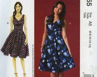 McCall's MP355 Nicole Miller Dress Pattern Size A5 (6-8-10-12-14)