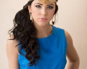 Great Gatsby headpiece, Flapper headpiece, Flapper dress, 1920s headband, 1920s hair accessory Gatsby headband, Gold Headpiece
