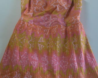 Vintage 1960s Mini Babydoll Dress Skort -