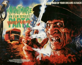 A Nightmare on Elm Street 2 1985 Cult Vintage Horror Film Movie Poster A3 A4