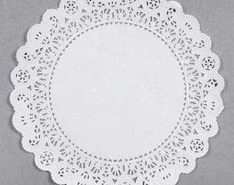 """25 French Lace 10"""" Round Paper Doilies"""
