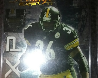 Jerome Bettis 1999 Prestige EXP Reflection Gold #98 285/1000 Made In a Screwdown Case or Toploader