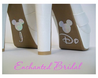 Disney Inspired I Do Shoe Stickers You Pick Color Sparkly Wedding Shoe Decals Disney Decals Disney Bride Shoe Stickers  Mickey Shoe Stickers
