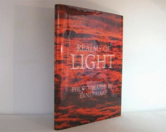 1978 Vintage Novelty Book, Realms of Light, Photographs by Ernst Haas With a Collection of Poetry of the Ages