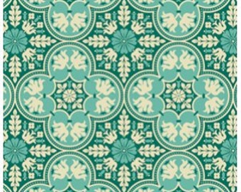 PADDED Ironing Board Cover fitted with elastic, Joel Dewberry Notting Hill Historic Tile Teal fabric, select the size