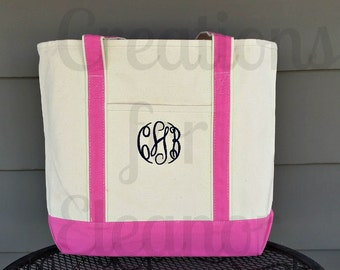 Monogrammed Tote Bag, Monogrammed Beach Bag, Bridesmaids Gift, Teacher Gift, Personalized Tote Bag, Monogrammed Luggage, Pool Bag