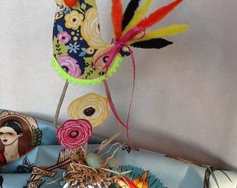 Frida's Birds Embelished Paper Bird