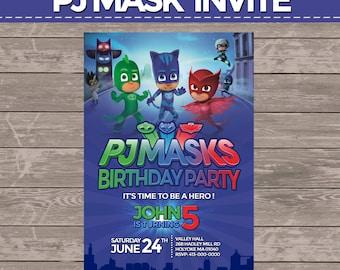 Pj mask invite (digital)