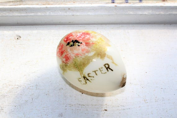 Victorian Milk Glass Easter Egg Antique 1800s Blown Glass
