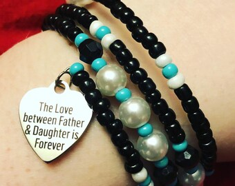 The Love Between A Father And Daughter Is Forever Bracelet