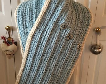 Tailorable Chunky Yarn Crochet Shawl Pattern