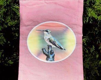 Blackberry Hummingbird Purse/Field Bag
