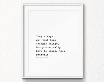 Andy Warhol Quote, 5x7, 8x10 Printable, INSTANT download, Typography, Minimal Quote, Typography art Quote, Printable, Digital file, warhol