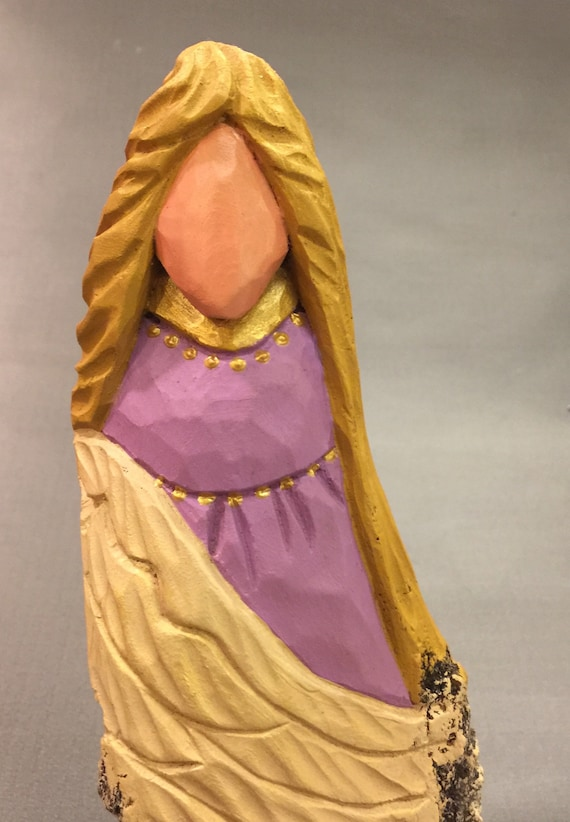 HAND CARVED original Christmas Angel from 100 year old Cottonwood Bark.
