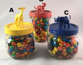 Zoo Animal Mason Jars - FREE SHIPPING!