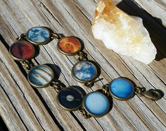Solar System Bracelet in Antique Bronze