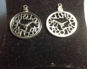 Clock watch pendant charm