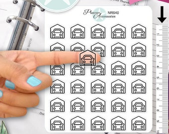 Clear Car Stickers Car Garage Stickers Planner Stickers Erin Condren Functional Stickers Decorative Stickers NR640