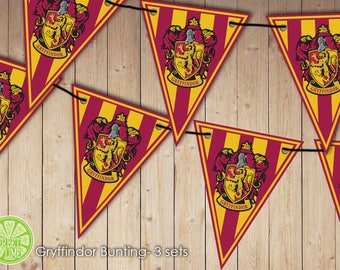 Harry Potter inspired Gryffindor Bunting