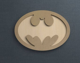 Frame Kit, Batman Symbol, Wood Frame, Picture Frame, DIY