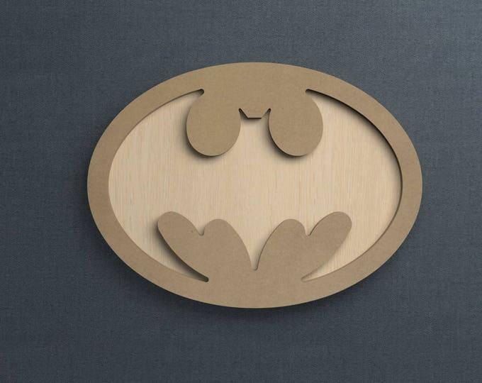 Featured listing image: Frame Kit, Batman Symbol, Wood Frame, Picture Frame, DIY