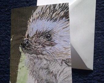 Hedgehog design blank greeting card