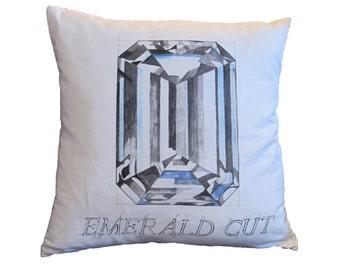 Emerald Cut Diamond Pillow
