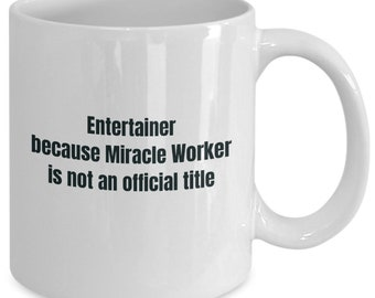 Entertainer gifts coffee travel cup mug gift men women