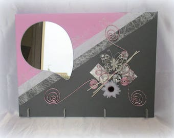 Original picture holder tender pink and gray baby gift