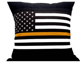 TGL, Thin Gold LIne, Honoring our Dispatchers, TGL Pillow Cover, Great Gift Idea, pillow cover Only, TGL wedding gift,