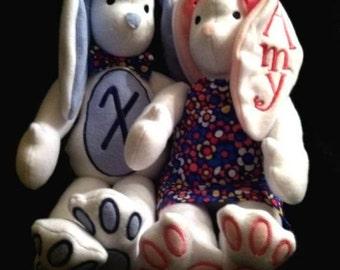 In Hoop Stuffed Bunny